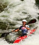 Kayaker in white water Stock Image