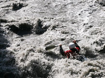 Kayaker in white water, rafting Stock Image