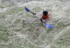 Kayaker in whitewater Stock Photos