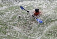 Kayaker in whitewater Stock Photos