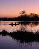 Kayakers à l'aube Photo libre de droits