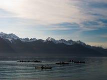 Kayakers на спокойных водах Стоковая Фотография RF