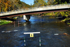 kayakers курса Стоковое Изображение RF