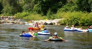 Kayakers aux cascades d'Argo photos libres de droits