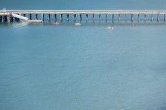 Kayakers bij het meer Royalty-vrije Stock Foto's