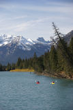 Kayakers on the Bow River Stock Photo