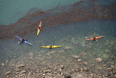 Kayakers at Deception Pass Royalty Free Stock Photo