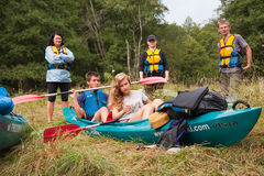 Kayakers Stock Photography