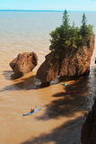 Kayakers at Hopewell Rocks Stock Images