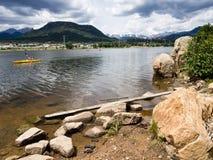 Kayakers on Lake Estes Royalty Free Stock Photos