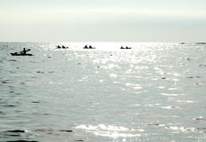Kayakers in the Ocean Royalty Free Stock Photography
