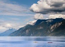 Kayakers в бухте Portage стоковое фото rf