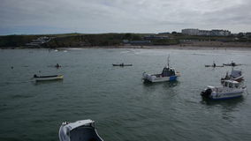 Kayakers que dirigem para fora ao mar video estoque