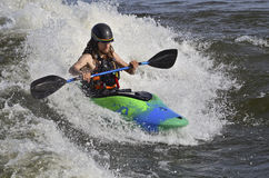 Kayakers in the rapids Royalty Free Stock Photos