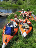 Kayakers Rest Stock Image