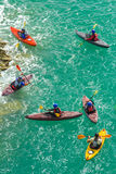 Kayakers on the sea Royalty Free Stock Photos