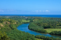 Kayakers on the Wailua River Stock Images