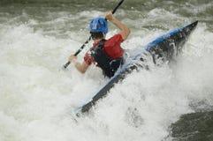 kayakerwhitewater royaltyfri fotografi