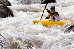 kayakerwhitewater Arkivfoton