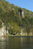 Kayaking övreIowaet River Arkivfoto