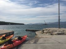 Kayaking Κροατία Στοκ εικόνες με δικαίωμα ελεύθερης χρήσης