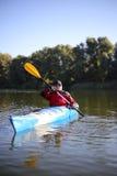 Kayaking ο ποταμός του Κολοράντο (μεταξύ του φράγματος πορθμείων κατακαθιών και φαραγγιών του Glen) Στοκ φωτογραφίες με δικαίωμα ελεύθερης χρήσης
