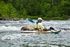 kayaking ποταμός ορμητικά σημείων & Στοκ Φωτογραφία