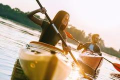kayaking ποταμός Στοκ Εικόνες