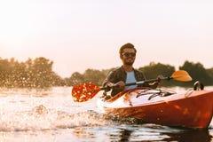 kayaking ποταμός Στοκ εικόνα με δικαίωμα ελεύθερης χρήσης