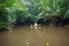Kayaking τραγουδημένη στη Klong Nae, Thailand& x27 s μικρός Αμαζόνιος Στοκ Εικόνες