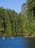kayaking звук puget на юг Стоковые Изображения RF