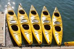 kayaking море стоковая фотография rf