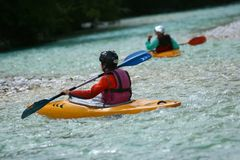 Kayaking Foto de Stock