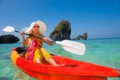 Kayaking Fotografia Stock