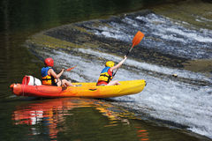 Kayaking Image stock