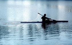 Kayaking Photo stock