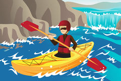 Kayaking Royalty Free Stock Photography