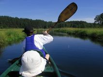 Kayaking Royalty Free Stock Images