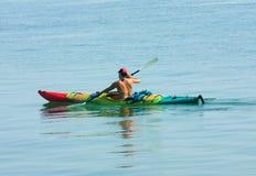 Kayaking Fotografia Stock Libera da Diritti