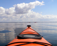 Kayaking. Group kayaking on the Potomac River. Westmoreland State Park Stock Photo