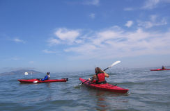 Kayaking immagine stock