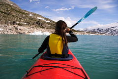 Kayaking fotografia stock