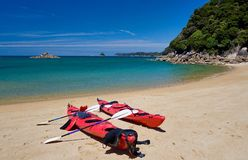 Kayaking Abel Tasman. Kayaking in able tasman national park new zealand Stock Photos