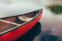 Kayaking activity concept. View of kayak on the river ready to floating Royalty Free Stock Photography