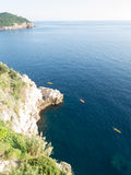 Kayaking on the adriatic at Dubrovnik, Croatia in the evening Royalty Free Stock Photo