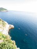 Kayaking on the adriatic at Dubrovnik, Croatia in the evening Royalty Free Stock Image