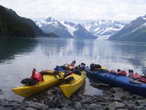 Kayaking in Alaska Stock Foto's