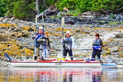 Kayaking Alaska - Prepare for Departure Stock Photos