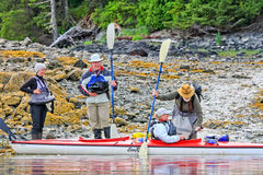 Kayaking Alaska - Ready for Departure Stock Images