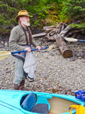 Kayaking Alaska - turnera Pre anvisning Royaltyfria Foton
